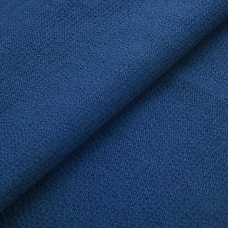 Awa Sheersucker indigo navy blue