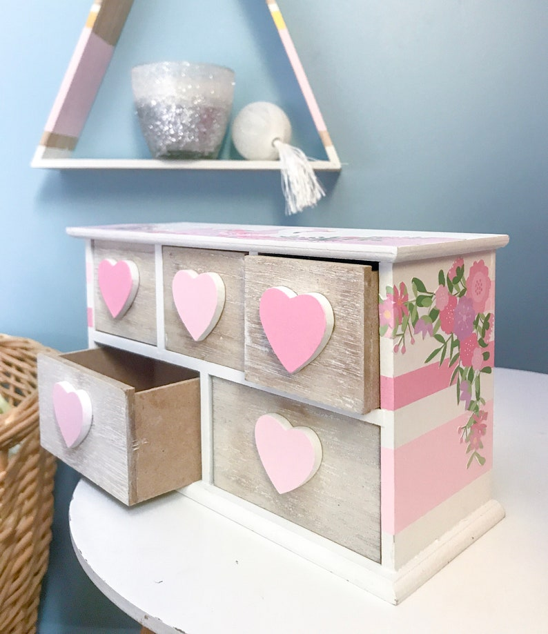Lovely Swan collection-mini furniture for child drawers-unique model-so romantic