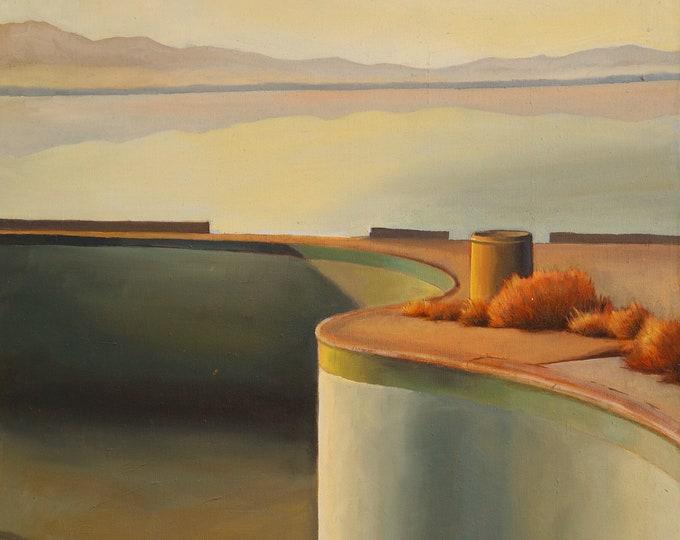 Salton Sea, oil on canvas, 24 x 36 inches, framed