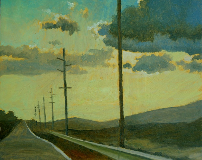 Coming Home, oil on masonite board, 8 x 10 inches, unframed