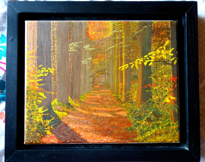 Dream Walk, oil painting on linen, 8 x 10 inches, framed