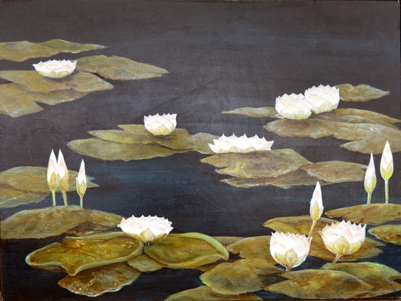 White Lotus, oil on canvas, 30 x 40 inches