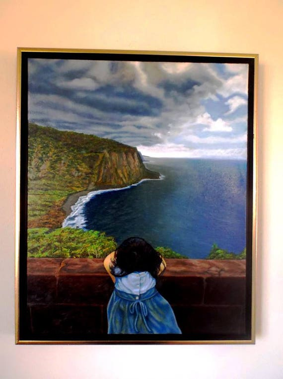 Amelie-An's World, oil on linen, 16 x 20 inches, framed