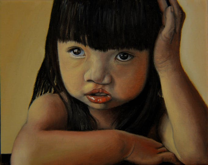 Amelie-An 3,  oil on canvas, image size 8 x 10 inches,framed