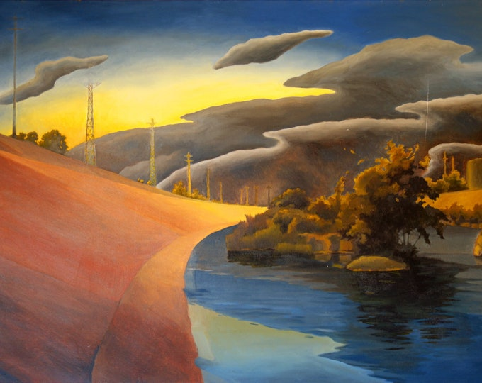 landscape painting by Paul Ely