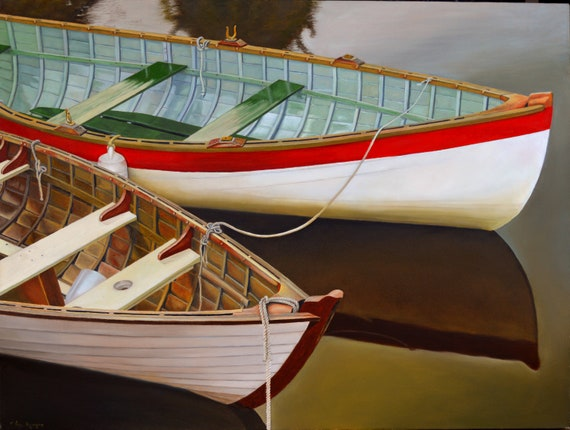 Two Boats, oil on canvas, 30 x 40 inches