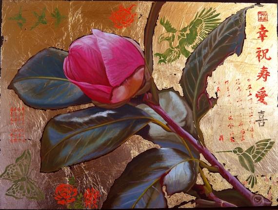 November Rose, oil on panel, 16 x 21 inches, framed