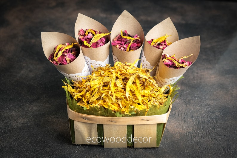 50 KRAFT Paper Cones,Wedding confetti package,Wedding Confetti Cones,Cones for Confetti,Wedding petal cones Confetti,