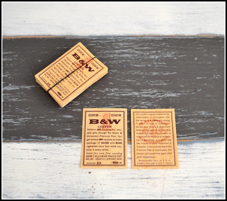 Vintage Cigarette Coupons - (100) B & W - Brown Coupons / Tickets - Vintage  Paper Ephemera