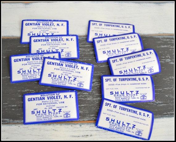 Vintage Gummed Medicine Labels