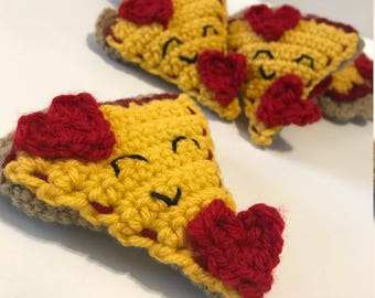 Pizza My Heart - Crochet Pizza Slice Valentine