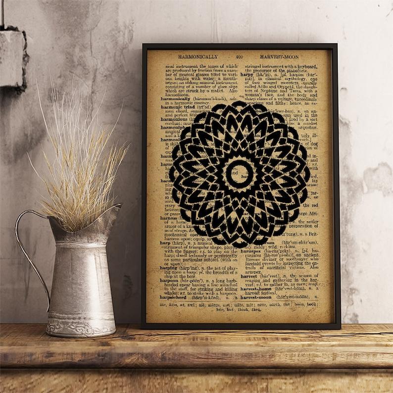 79150ad30 Sacred geometry print Mandala Poster Mandala Art Print | Etsy