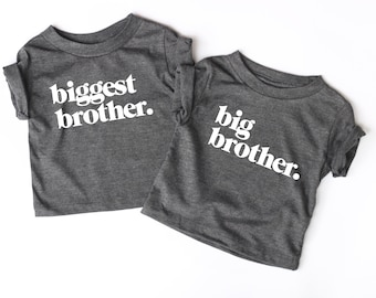 65897c73b Biggest brother shirt, big brother shirt, sister shirts, sibling shirts,  matching shirts, sibling outfits, pregnancy announcements