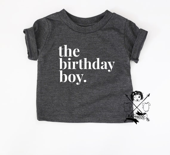 Birthday Tee Boy Shirt Happy