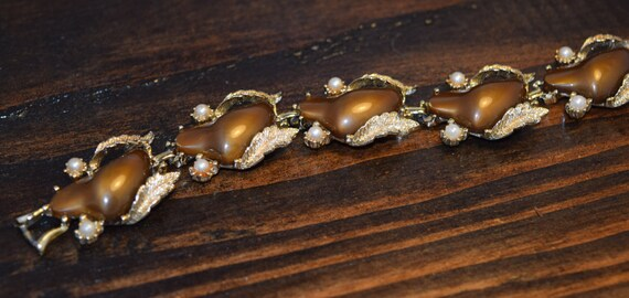 Estate Vintage Brown Bronze Gold Coro Thermoset B… - image 3