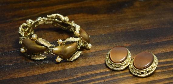 Estate Vintage Brown Bronze Gold Coro Thermoset B… - image 4