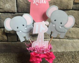 Elephant Girl Baby Centerpiece
