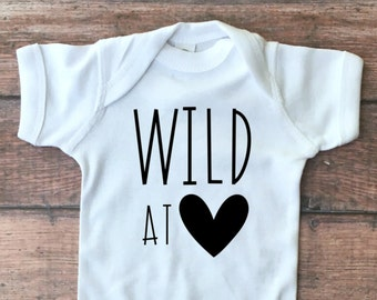 Wild at Heart Bodysuit or Toddler Tee