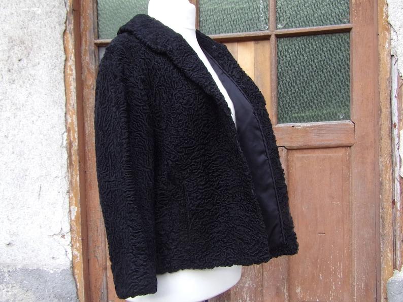 Real Fur Jackets Astrakhan Persian Lamb Fur Coat Black Size 10 Women/'s Astrakhan Jackets Autumn Winter Outerwear Women Coat