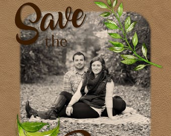 Leaves and Leather Save the Date