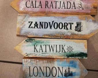 Various signposts in vintage style , garden signs , signs
