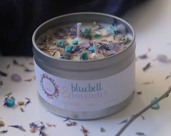Bluebell & Lavender Soy Candle, Vegan candle, Plastic Free, Ethical gift, Vegan gift, Calming candle, Relaxing candle, Handmade vegan gift