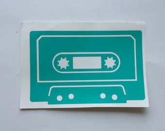 Cassette Tape Decal, Retro Decor, Music Sticker, Mixtape