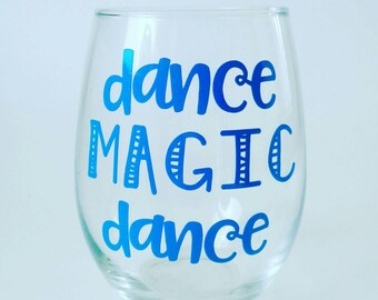 Dance Magic Dance Wine Glass, Labyrinth Wine Glass, You Remind Me of the Babe, Stemless Wine Glass, Power of the Babe, Labyrinth Gift