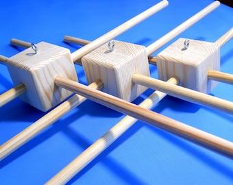 Three Baby mobile hanger Wood frame Wooden frame for Baby Mobile Diy mobile hanger Wood hanger