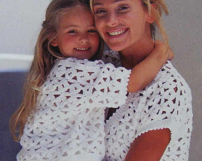 Cardigan and Waistcoat Crochet Pattern PDF Womens and Girls 24 - 26, 28 - 30, 32 -34, 36 - 38 & 40 - 42 inch chest, Summer Crochet Patterns