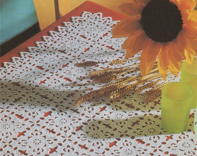 Square Doily Crochet Pattern PDF Doily Table Mat, Tray Cloth, Small Tablecloth, Vintage Crochet Patterns for the Home, e-pattern Download