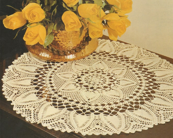 Doily Crochet Pattern PDF Doily Mat, Round Placemat, Circular Table Mat, Mandala, Vintage Crochet Patterns for the Home, e-pattern Download