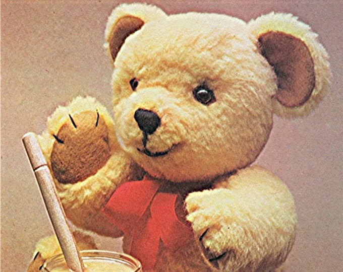 Teddy Bear Sewing Pattern PDF, Graph Pattern, Jointed Teddy Bear, Classic Vintage Toy Patterns, Digital Download