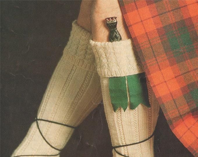 Kilt Hose Socks Knitting Pattern PDF in 3 Designs . Mens Socks, Instant Digital Download