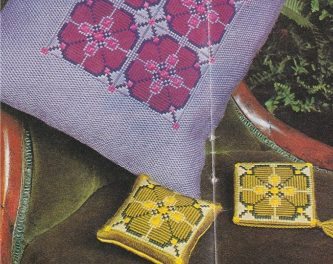Pin Cushion, Needlecase and Cushion Embroidery Pattern PDF, Vintage Patterns for the Home