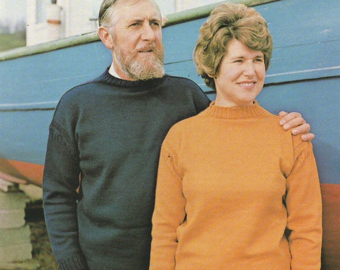 Traditional Guernsey Sweater Knitting Pattern PDF Womens, Mens, Boys, Girl 24, 26, 28, 30, 32, 34, 36, 38, 40, 42, 44, 46, 48, 50 inch chest
