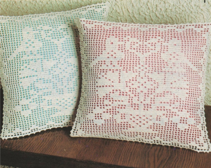 Cushion Cover Crochet Pattern PDF Cushion Embellishment, Scatter Cushion Pattern, Vintage Crochet Pattens for the Home, e-pattern Download