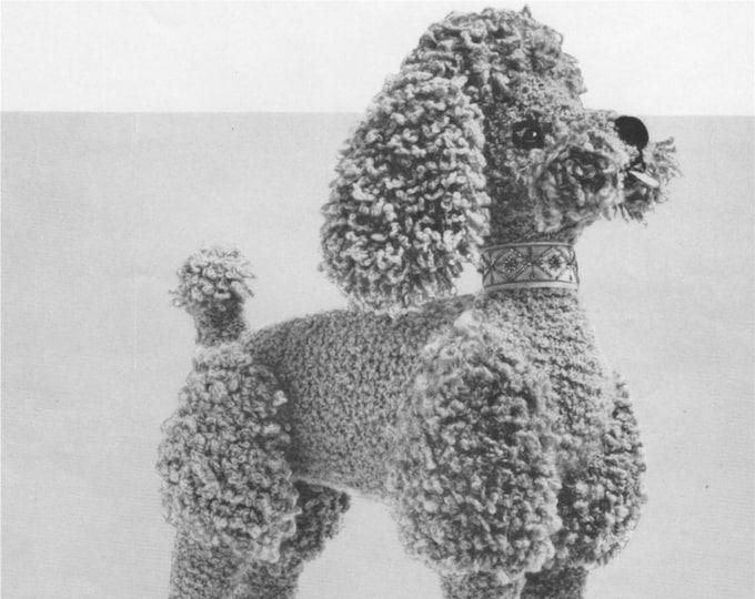 Poodle Dog Toy Knitting Pattern PDF, Dog Mascot, Vintage Toy Knitting Patterns, Download