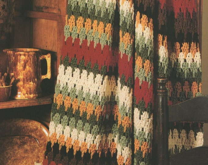 Throw Crochet Pattern PDF, Afghan, Crochet Blanket, Home Accessories, Stash or Scraps Project, Vintage Crochet Patterns for the Home