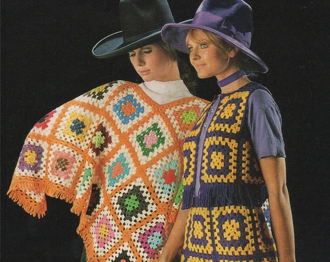 Womens Poncho, Skirt and Bolero Crochet Pattern PDF Ladies Vintage Crochet Patterns, Autumn and Winter Crochet Patterns, Digital Download