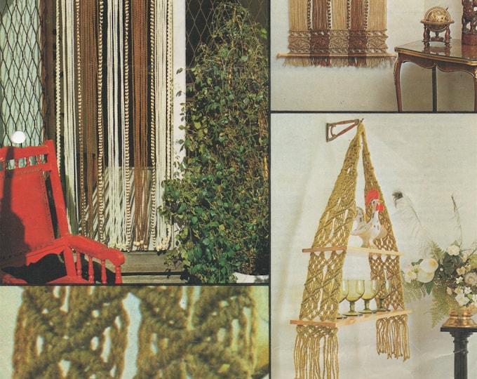Shelf Hanger, Door Curtain and Wall Hanging PDF Macrame Pattern . Instant Download