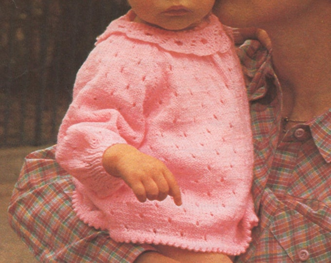 Baby Girls Angel Top, Pants and Bootees Knitting Pattern PDF Babies 18 and 20 inch chest, Short Dress, Vintage Knitting Patterns for Babies