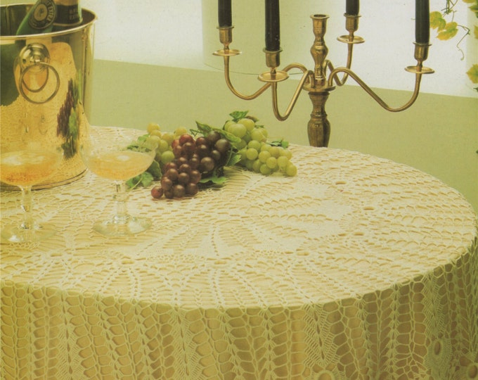 Oval Tablecloth Crochet Pattern PDF Table Cloth, Table Cover, Table Linen, Home Accessories, Vintage Crochet Patterns for the Home, Download