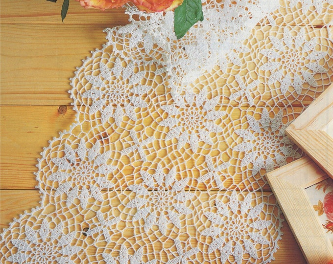 Table Runner Crochet Pattern PDF Doily Mat, Dressing Table Mat, Sideboard Runner, Vintage Crochet Patterns for the Home, e-pattern Download