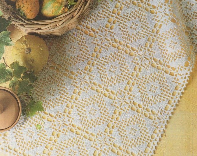 Doily Crochet Pattern PDF Doily Mat, Table Runner, Tray Cloth, Small Rectangular Tablecloth, Vintage Crochet Patterns for the Home, Download