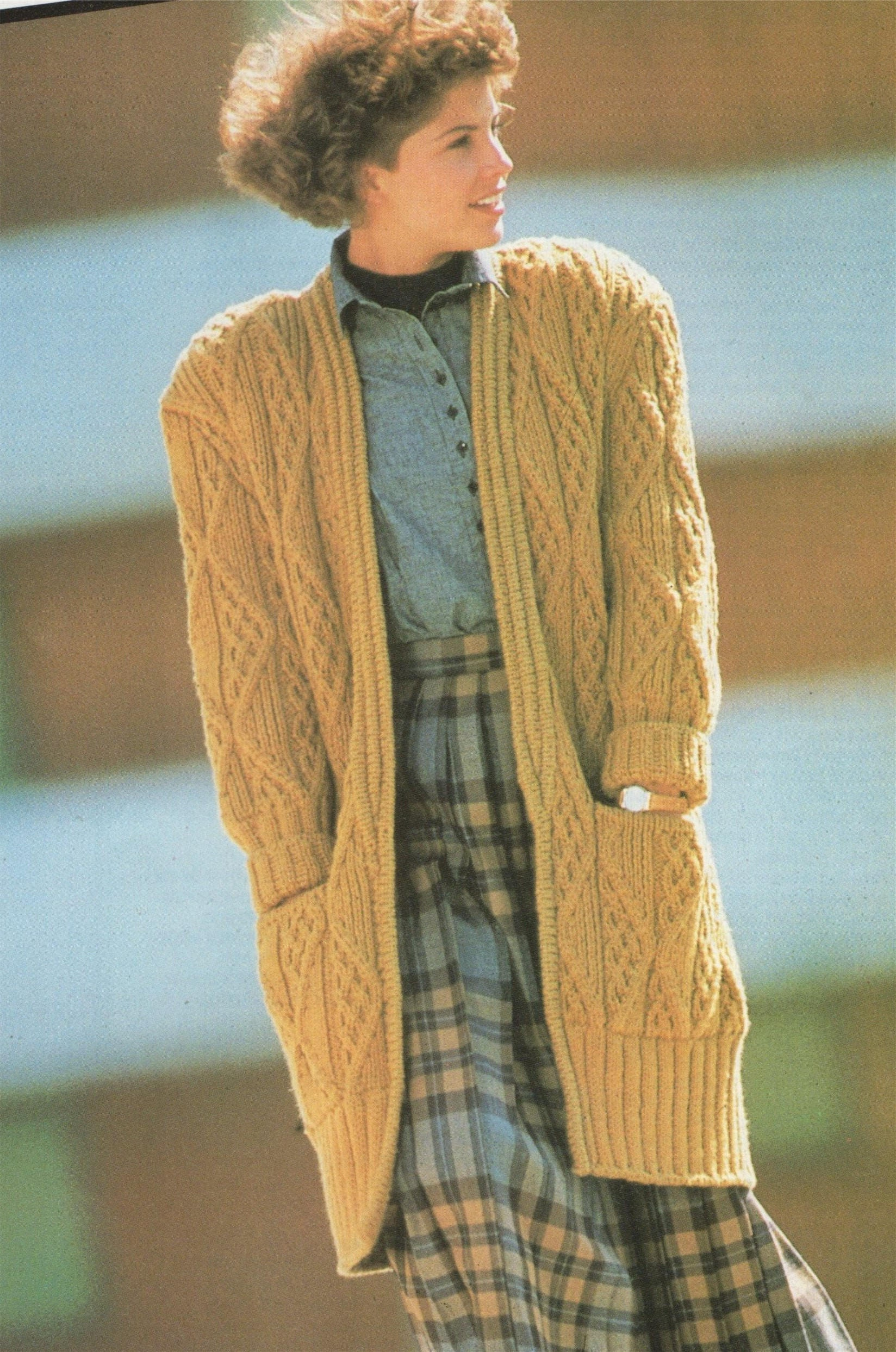 Womens Jacket Knitting Patterns Pdf Ladies 36 44 Inch Chest