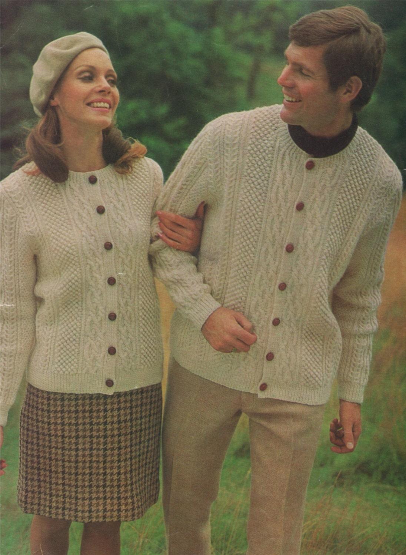 de7c4c347 Cardigan Knitting Pattern PDF Aran Style