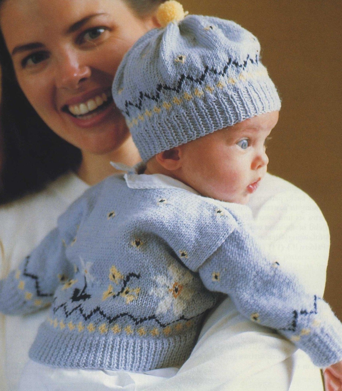 Babies Fair Isle Cardigan and Hat Knitting Pattern PDF Baby Boys or ... be69253857c