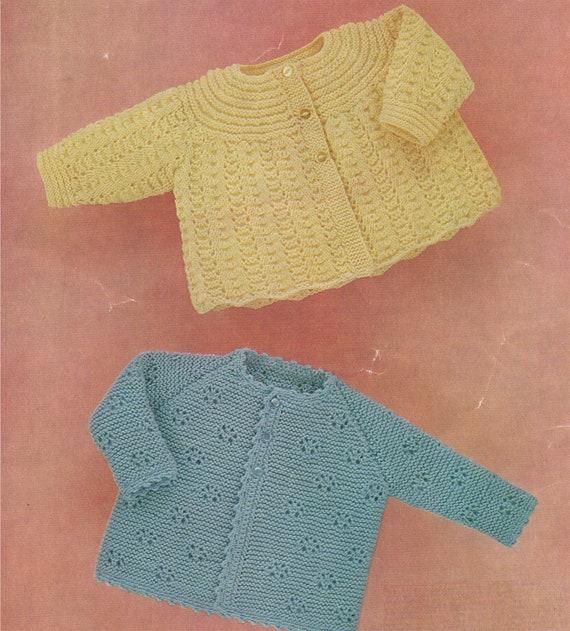 6dbeb37c3c7d Babies Matinee Coat Knitting Pattern PDF Baby Boys or Girls