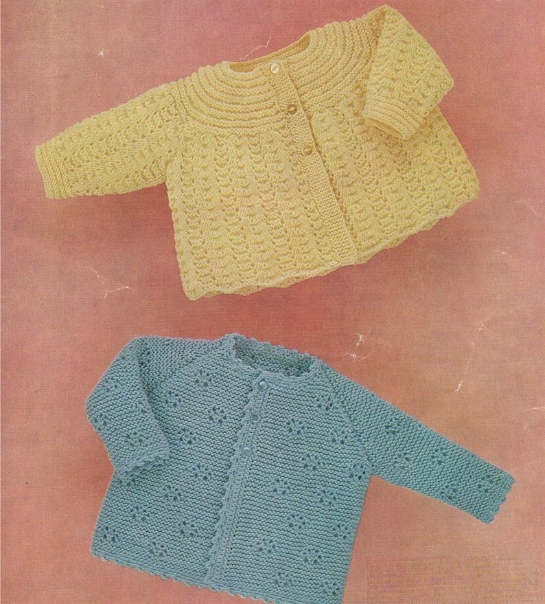 b74067c2ae3c Babies Matinee Coat Knitting Pattern PDF Baby Boys or Girls